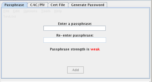 Encrypting File Passphrase